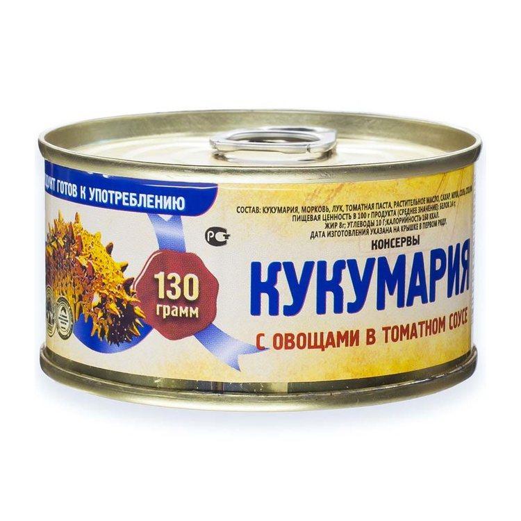 Кукумария с овощами в томатном соусе, 130 г