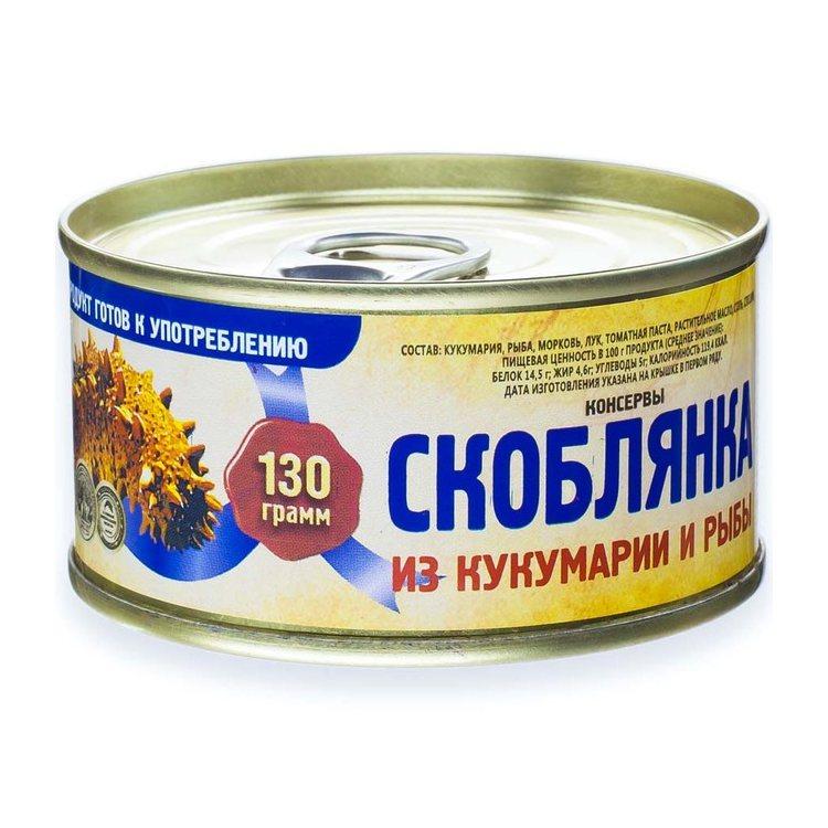 Скоблянка рыбная из кукумарии и рыбы, 130 г