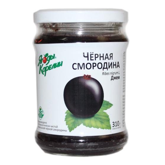 Джем из чёрной смородины «Ягоды карелии», 310 г