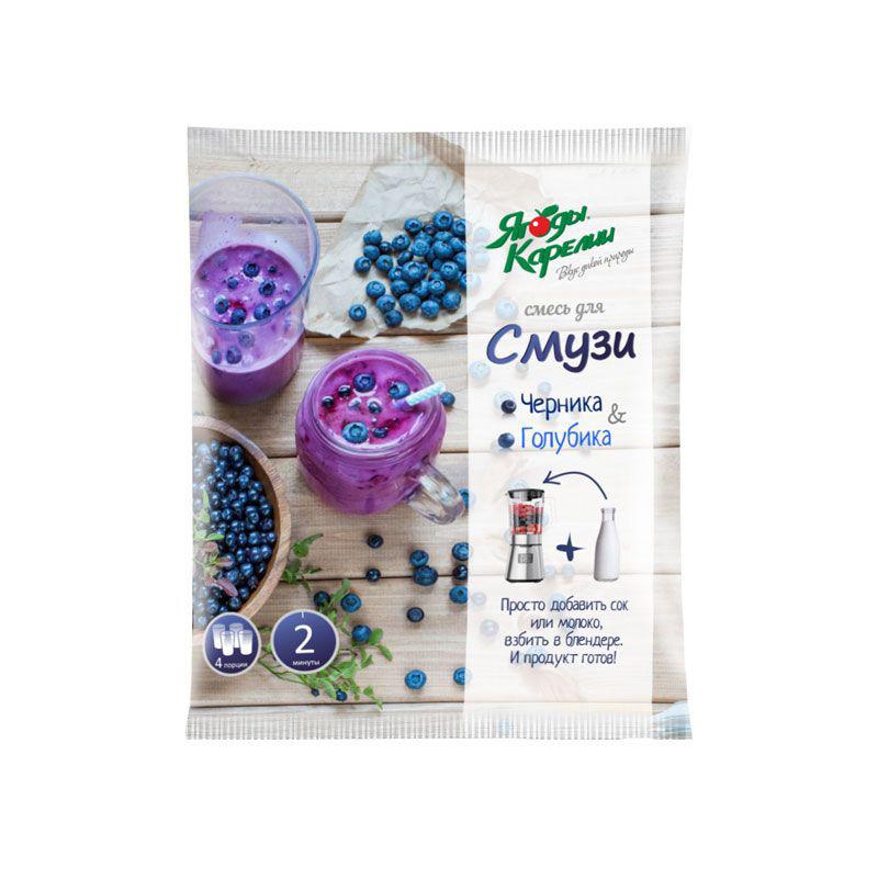 Ягодная смесь Смузи свежемороженая «Ягоды карелии», 300 г