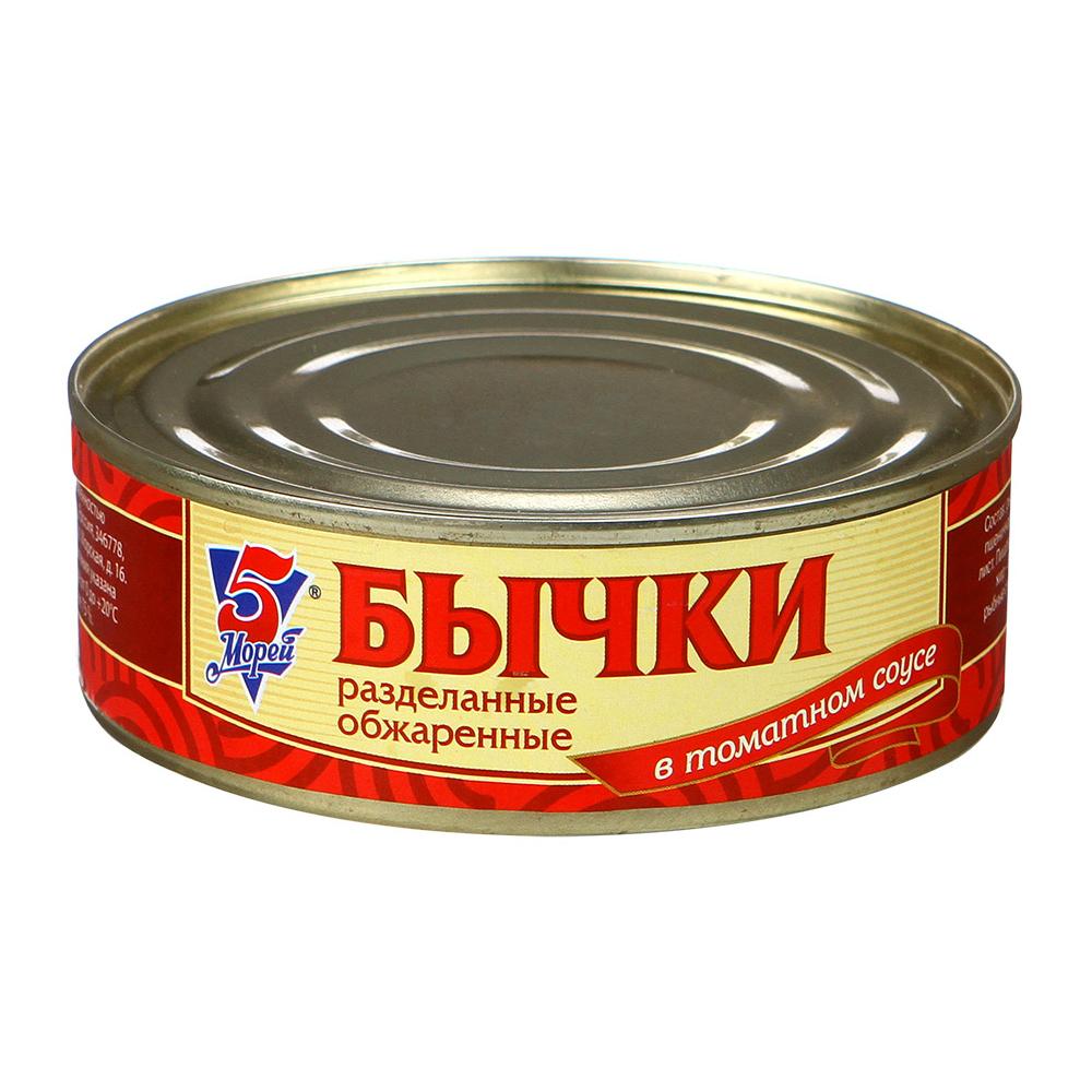 Бычки в томатном соусе «5 Морей», 240 г