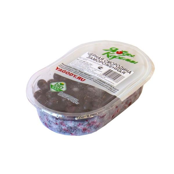 Чёрная смородина свежемороженая «Ягоды карелии», 250 г